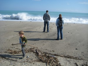 Zee en golven bij Santa Caterina