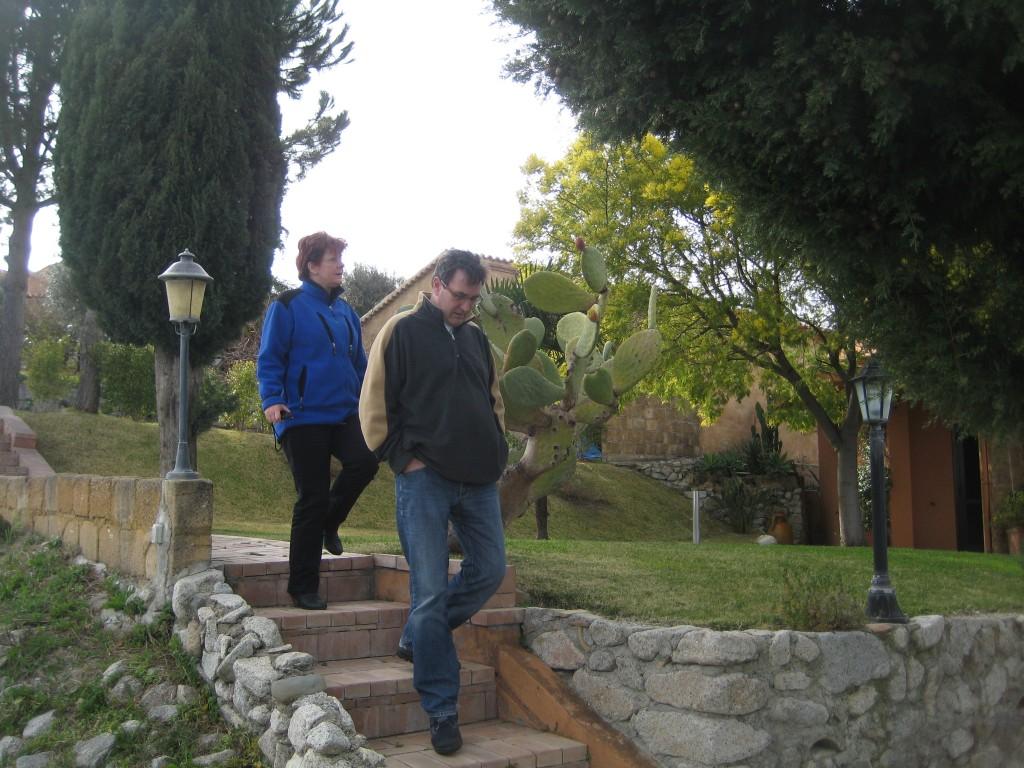 Chris en Ineke op Borgo Ferri.