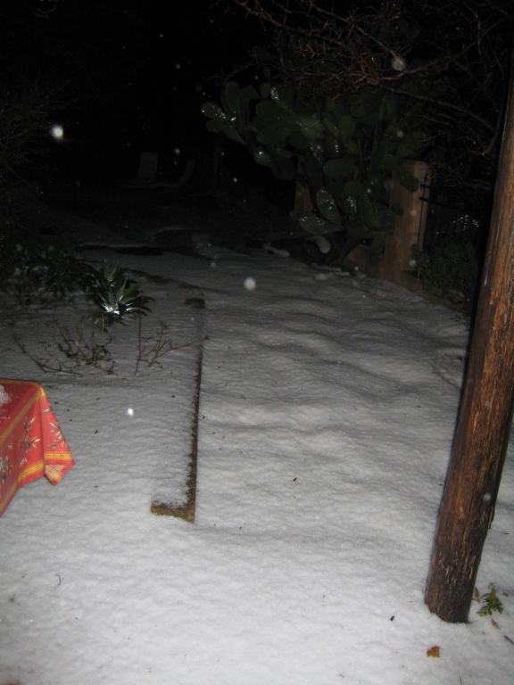 Hagel en sneeuw.