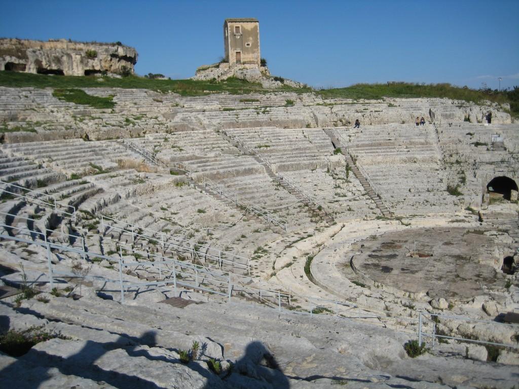 Grieks amphitheater in Syracuse.