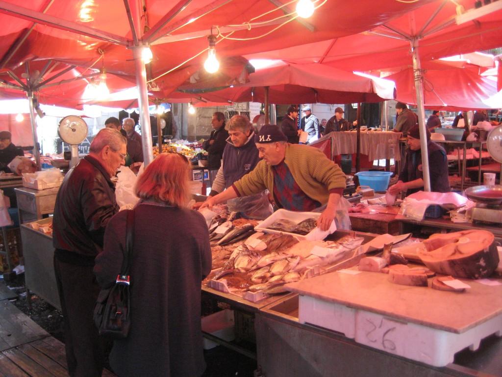 Vismarkt in Catania
